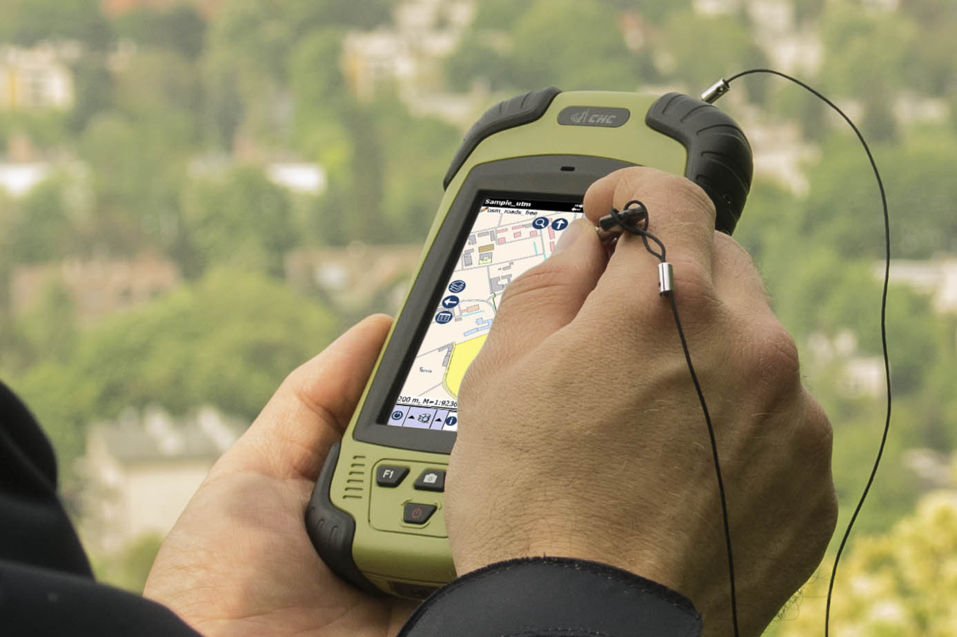 topoXplore release running on a handheld GNSS receiver